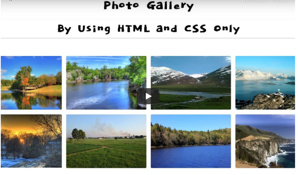 photo gallery using html and css