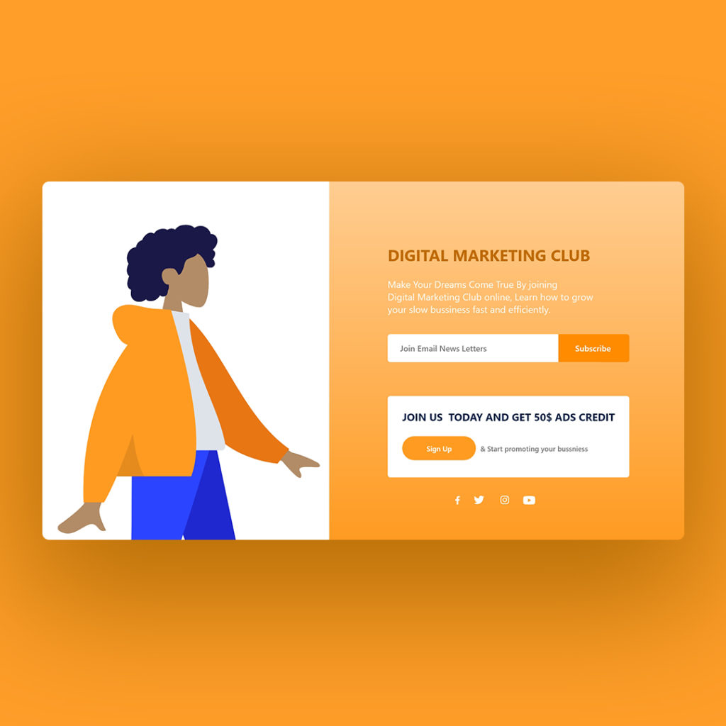 Responsive Landing Page Using HTML, CSS