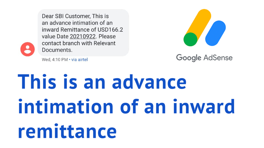This is an advance intimation of an inward remittance Solution